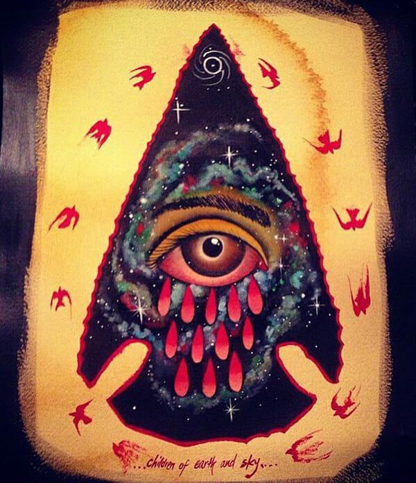Warriors Fund, Eight of Swords, Derek Merritt, tattoo art