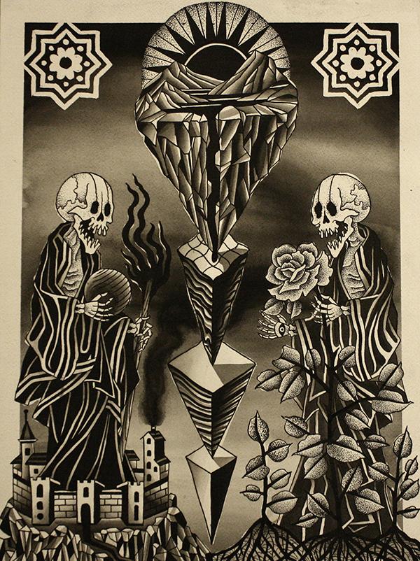 Warriors Fund, Eight of Swords, Franco Maldonado, tattoo art