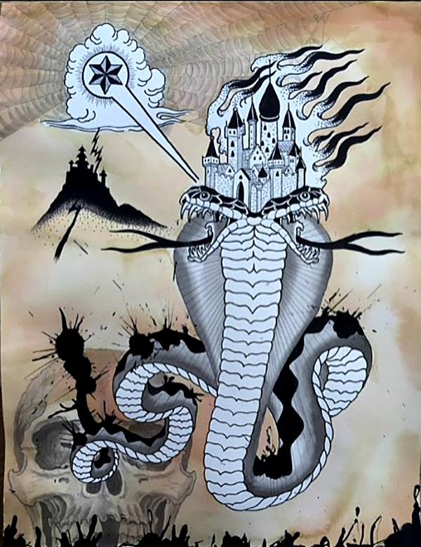 Warriors Fund, Eight of Swords, John Reardon, tattoo art