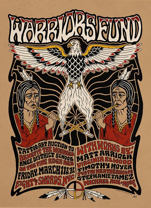 Warriors Fund, Matt Sabbath, Eight of Swords, tattoo art
