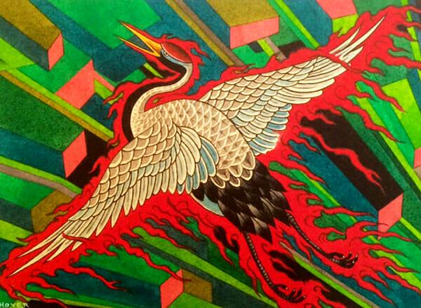 Warriors Fund, Eight of Swords, tattoo art, Timothy Hoyer