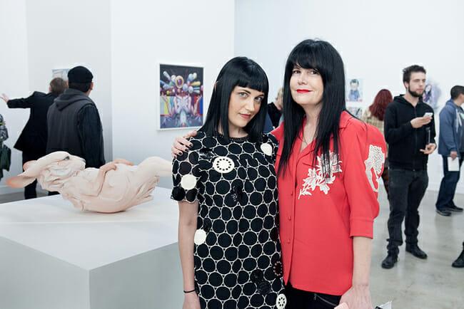 (L-R) Caro Buermann and Jan Corey Helford | Below the Surface @ Corey Helford Gallery, LA - via beautiful.bizarre