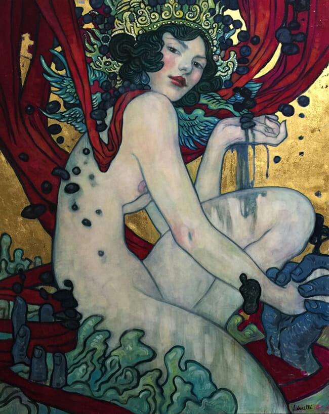 """What Lies Beneath"" by R. Leveille | ""What Lies Beneath by R. Leveille | Below the Surface @ Corey Helford Gallery, LA - via beautiful.bizarre"