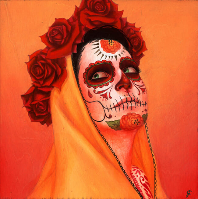 """Catrina, Sol Amarillo"" by Sylvia Ji 