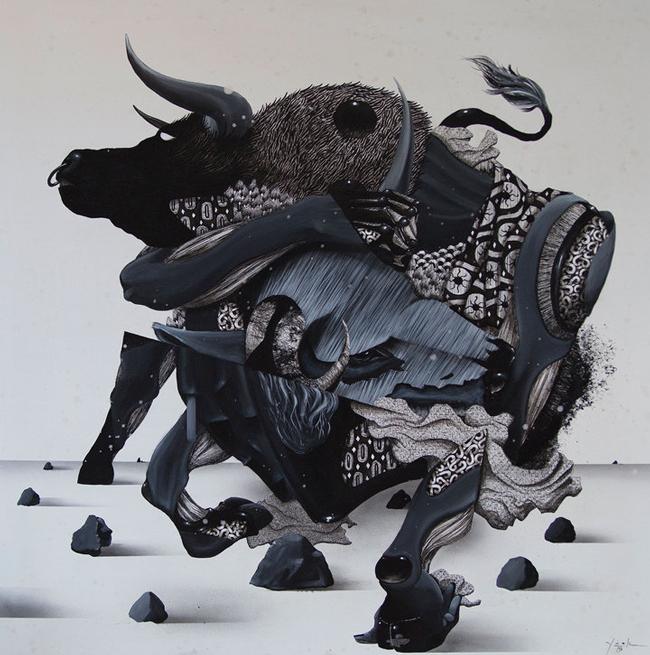 """Take Control"" by Yusk Imai | Below the Surface @ Corey Helford Gallery, LA - via beautiful.bizarre"