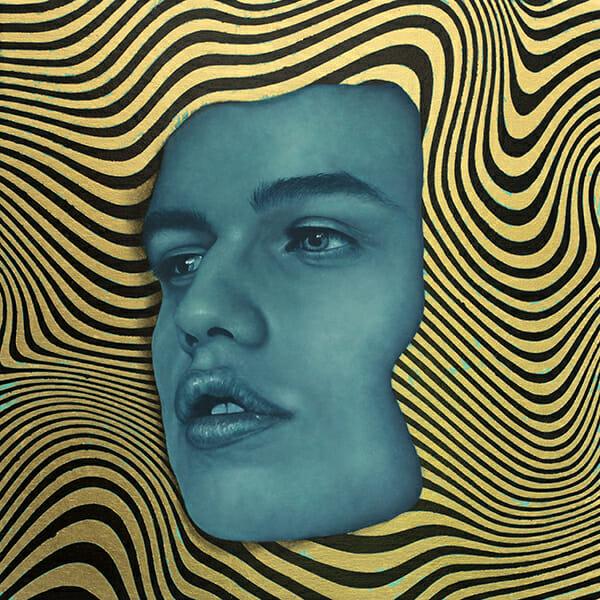 Johnie Thornton - Black Gold White Plight - 14x14 - Oil and Gold Leaf on Birch - 2016