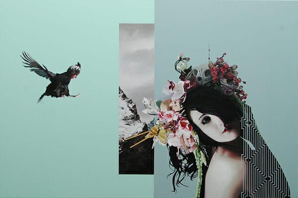 Velvet Bloom II (2014) 90x100 cm, acrylic on linen