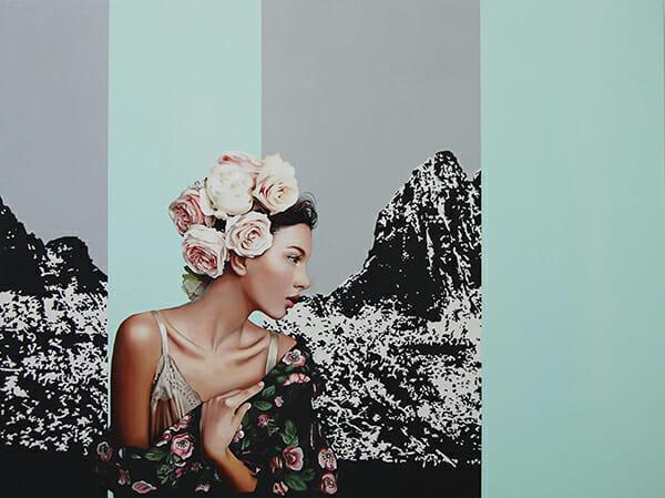 Velvet Bloom VI (2014) 100x120 cm, acrylic on linen