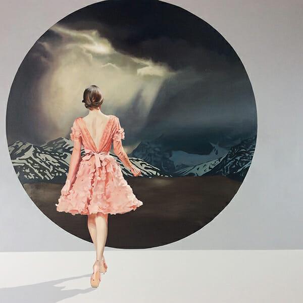 Velvet Bloom XVI (2015) 120x120 cm, acrylic on linen