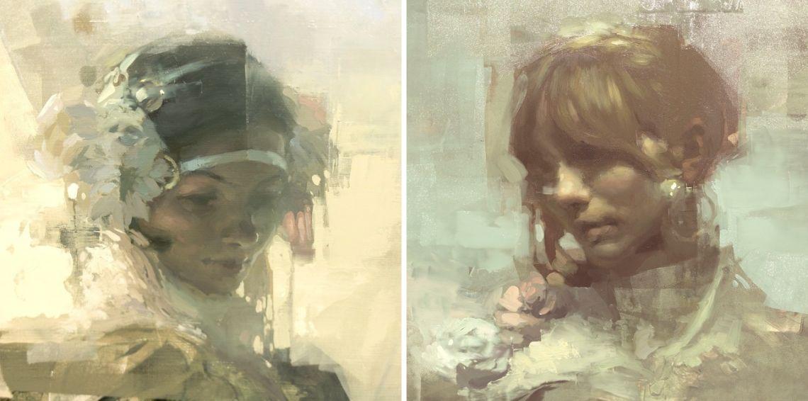 Jeremy Mann portrait painting