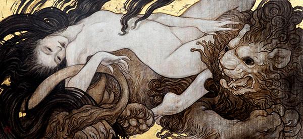 Rebecca Léveillé surreal figurative paintings