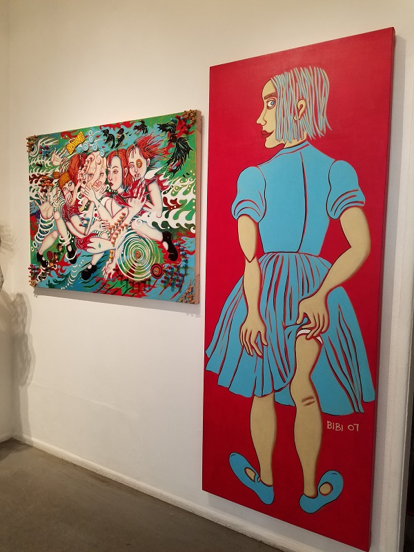 bibi davidson, the girl in the red dress, gallery 825