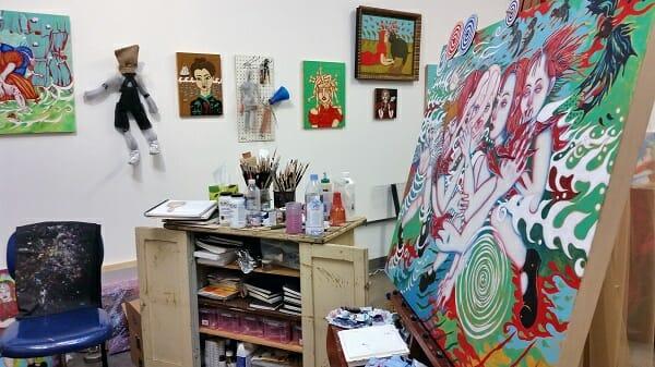 bibi davidson, the girl in the red dress, gallery 825