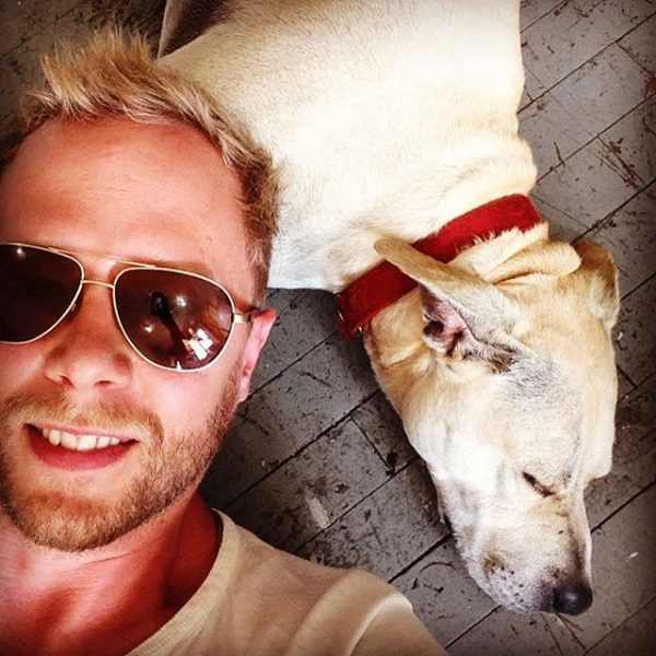 Martin Wittfooth with his dog
