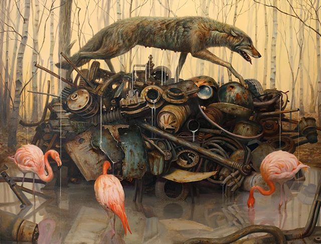 Martin Wittfooth surreal animal nature painting
