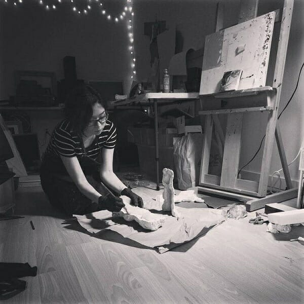 Amy Sol in her studio