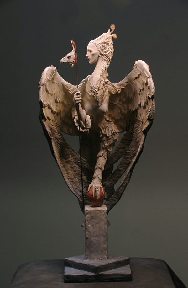 Forest Rogers surreal winged sculpture