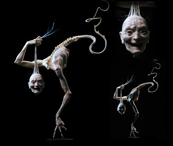 Forest Rogers surreal creature sculpture