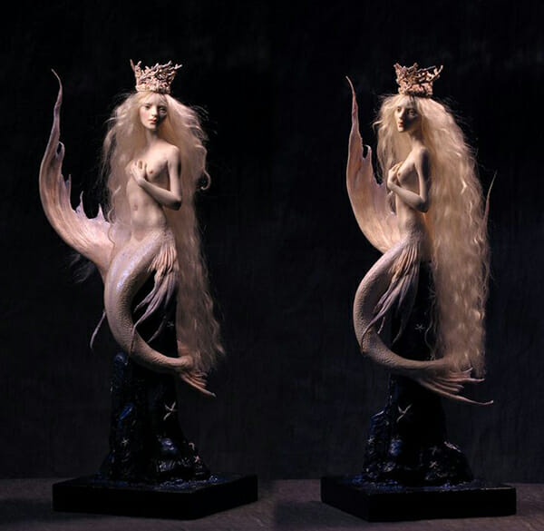 Forest Rogers surreal mermaid sculpture