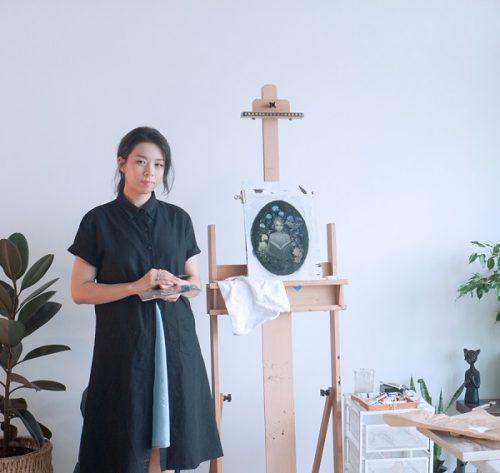 Amy Sol in her studio