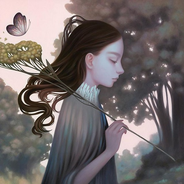 Amy Sol butterfly painting