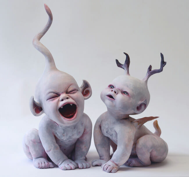 Ronit Baranga surreal baby sculptures
