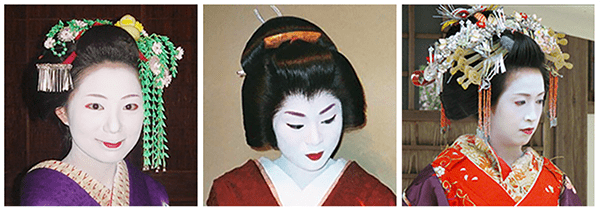 Free for public use, Photos of a Maiko, Geiko, and Oiran.