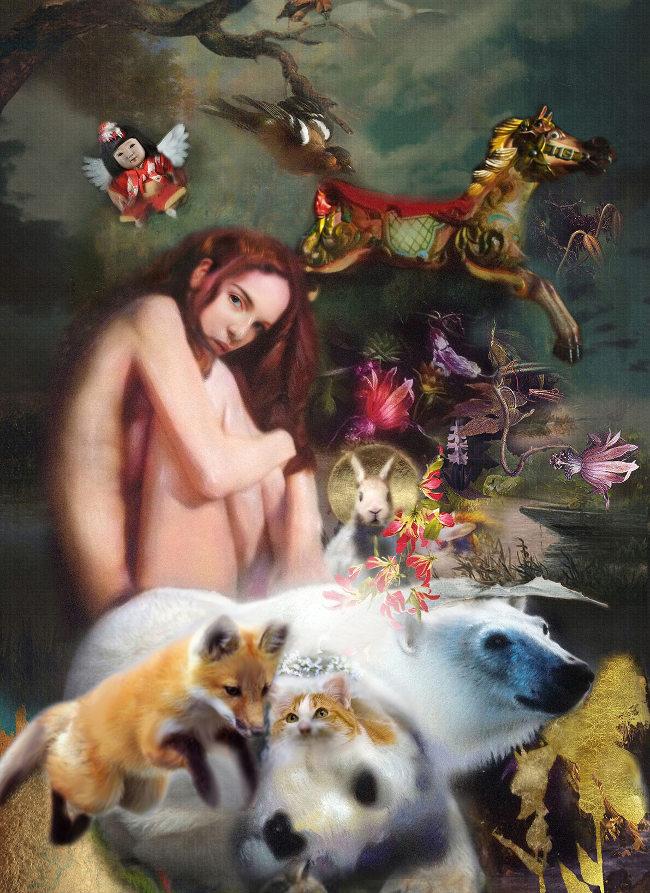 Iva Troj surreal nude painting