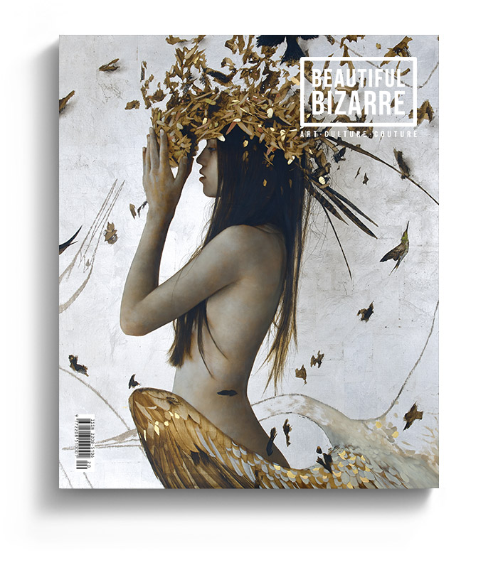 Beautiful Bizarre Magazine - Issue 27 - Brad Kunkle's painting on the Cover