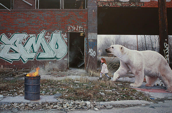Kevin Peterson surreal urban animal paintings