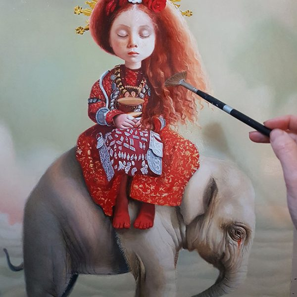 Work in progress by Olga Esther for Gaia Reborn art exhibition