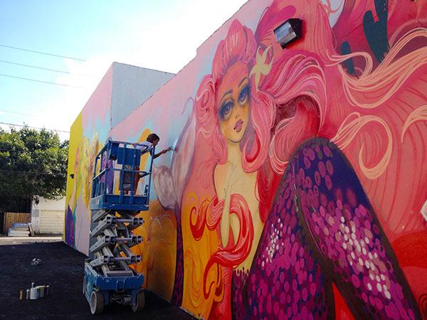 Tatiana Suarez art mural