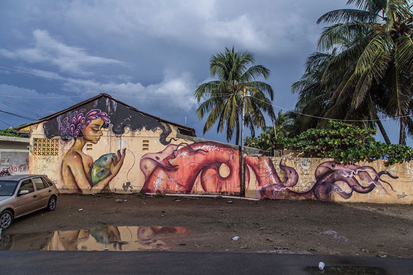 Tatiana Suarez mermaid mural