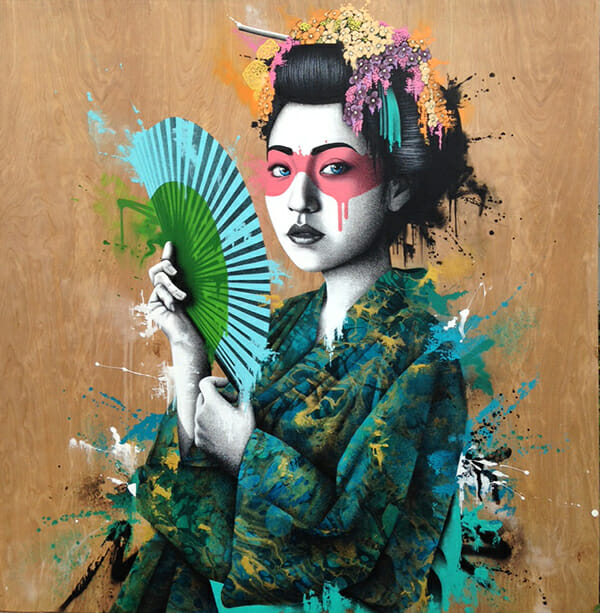 Fin Dac geisha artwork