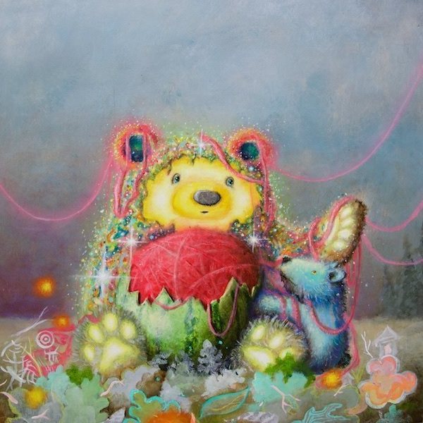 Scott Mills teddy bear art