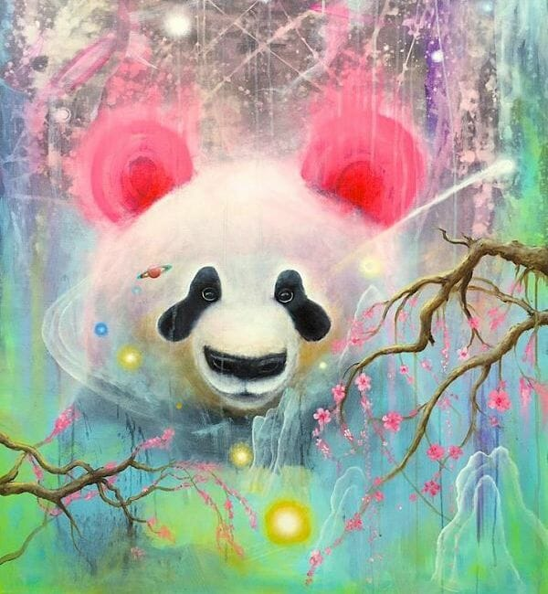 Scott Mills pop surreal panda bear
