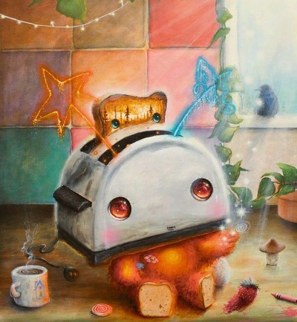 Scott Mills toaster painting