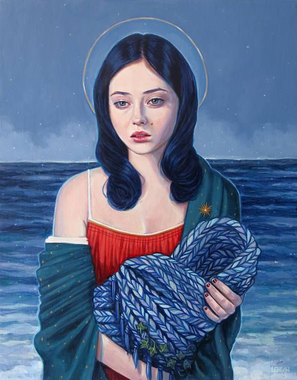 Edith Lebeau portrait painting