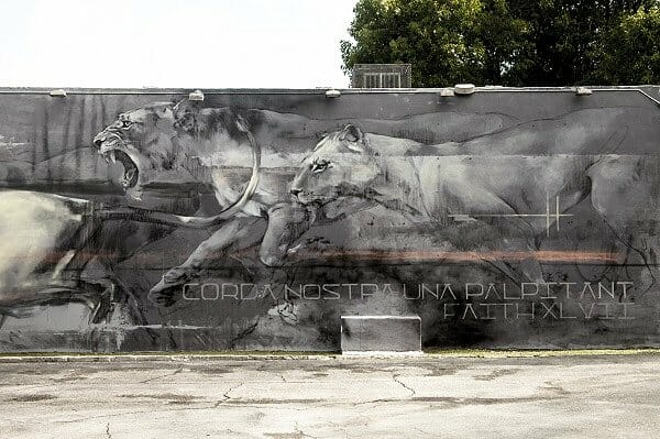 WISEKNAVE Fine Art Documentation for Faith47 Mural at Wynwood Walls during Art Basel. Miami, FL 2016
