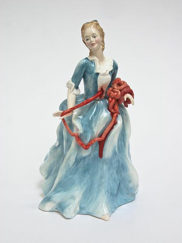 Jessica Harrison porcelain sculpture, internals exposed