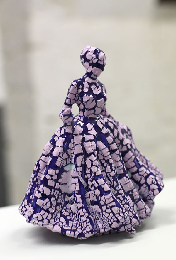 Jessica Harrison porcelain sculpture, modified, surface disruption, ink