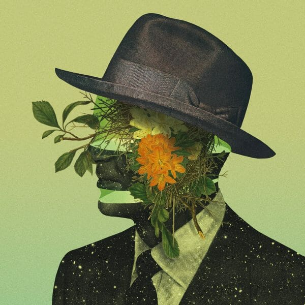 Pierre Schmidt - Man With Black Hat flowers universe space digital photography