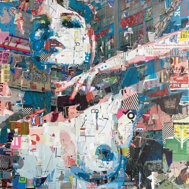 Derek Gores fashion nude collage art
