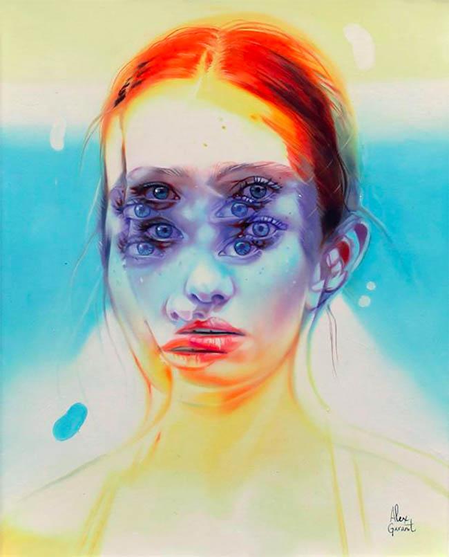 Alex Garant surreal portrait painting