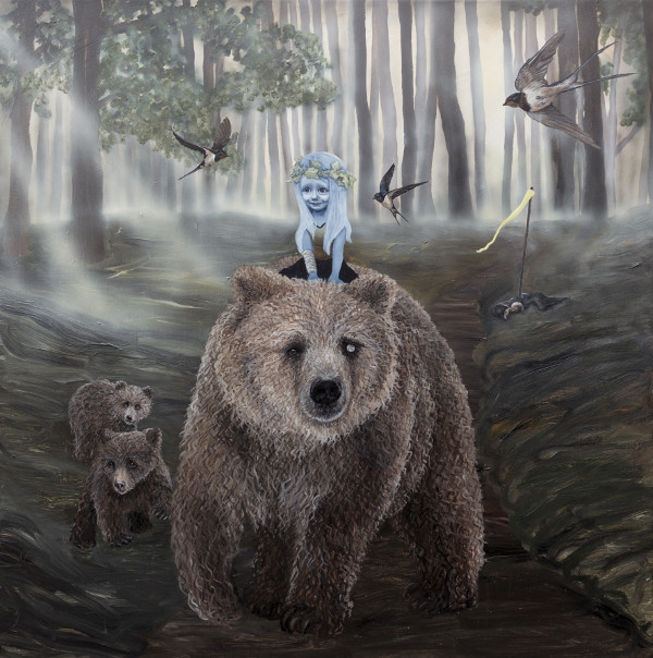 Anne Juul Christophersen nature surrealism bear and girl
