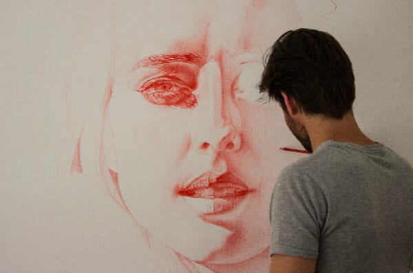 Daan Noppen red drawing