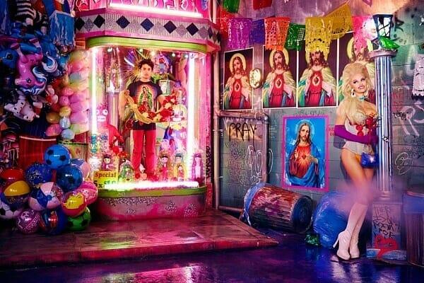 David LaChapelle Pamela Anderson Religion Carnival Flaunt Magazine