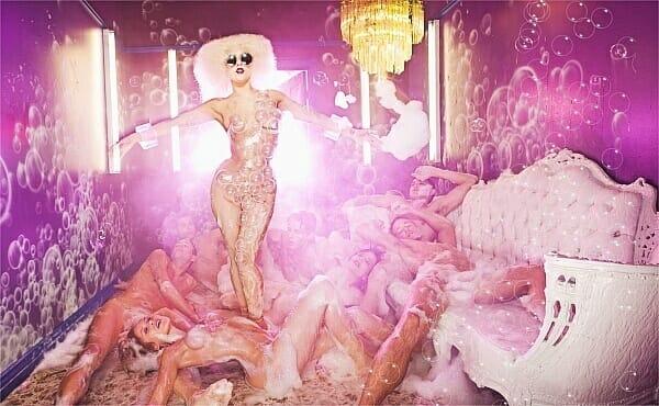 David LaChapelle Lady Gaga Pink Room Bubbles