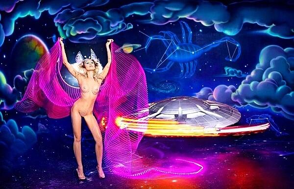 David LaChapelle Cyrus Alien Flyer Saucer Scorpio Zodiac