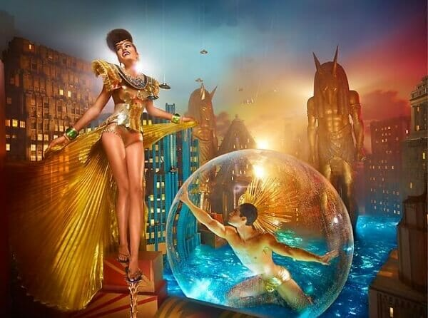 David LaChapelle Havianas Ad Campaign Egypt Gold